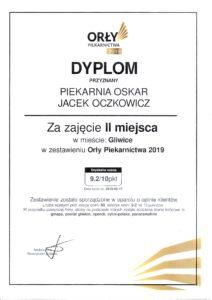 Orły Piekarnictwa 2019 - II miejsce